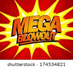 explosive mega blowout design... | Shutterstock .eps vector #174534821