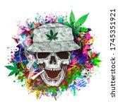 Rastafari Skull Illustration...