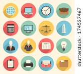 colorful business and office... | Shutterstock .eps vector #174537467