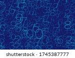 an array of random numbers 0... | Shutterstock .eps vector #1745387777