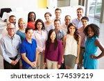 portrait of multi cultural...   Shutterstock . vector #174539219