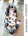 businessman addressing meeting... | Shutterstock . vector #174539237