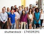portrait of multi cultural... | Shutterstock . vector #174539291