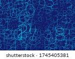 an array of random numbers 0... | Shutterstock .eps vector #1745405381