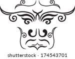 ethnic mask of black patterns   Shutterstock .eps vector #174543701