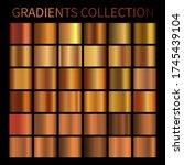 copper gradient background...   Shutterstock .eps vector #1745439104