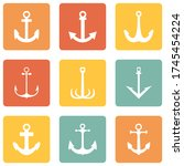 vector set of color square... | Shutterstock .eps vector #1745454224