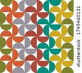 mid century pattern with... | Shutterstock .eps vector #1745460131