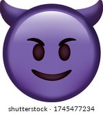 Vector Emoji. Angry Face. Devil ...