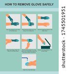 how to safely remove disposable ... | Shutterstock .eps vector #1745501951