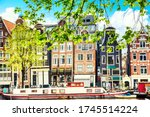 Cityscape View Of Amsterdam Old ...