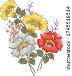 elegant flowers bouquet on... | Shutterstock .eps vector #1745518514