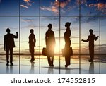 silhouettes of businesspeople... | Shutterstock . vector #174552815