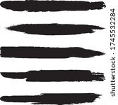 collection of grunge brushes.... | Shutterstock .eps vector #1745532284
