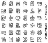 Allowance Icons Set. Outline...