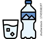 drinking water icon  beverage... | Shutterstock .eps vector #1745538197