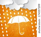 clouds with white umbrella and... | Shutterstock . vector #174557399