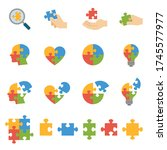 jigsaw puzzle  hand assembling... | Shutterstock .eps vector #1745577977