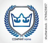heraldry crown with laurel... | Shutterstock .eps vector #1745625857