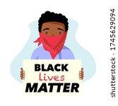 black lives matter. anti racism ...   Shutterstock .eps vector #1745629094