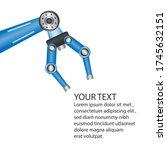 Chrome Robotic Claw. Industria...
