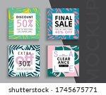 sale banner layout design. set... | Shutterstock .eps vector #1745675771