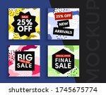 sale banner layout design. set... | Shutterstock .eps vector #1745675774