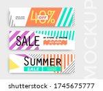 sale banner layout design. set... | Shutterstock .eps vector #1745675777