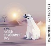 world enviroment day. global... | Shutterstock .eps vector #1745677571