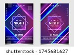 night dance party music poster... | Shutterstock .eps vector #1745681627