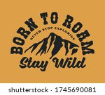 vintage outdoor mountain... | Shutterstock .eps vector #1745690081