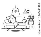 living room interior icon.... | Shutterstock .eps vector #1745691401