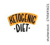 ketogenic diet hand drawn... | Shutterstock .eps vector #1745693621