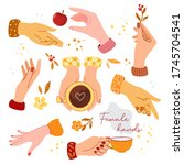 Colorful Female Hands Vector...