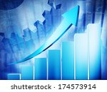 growth chart with arrow sign. | Shutterstock . vector #174573914
