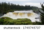 Thompson Manitoba Waterfalls a stunning emerald green high lights natures magnificent power