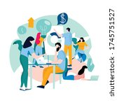 business courses  business data ... | Shutterstock .eps vector #1745751527