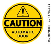 caution board with message... | Shutterstock .eps vector #1745751881