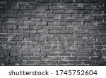 Brick Wall Black And White