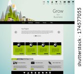 modern eco website template...