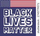 black lives matter text vector...   Shutterstock .eps vector #1745779571
