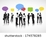 business discussion | Shutterstock .eps vector #174578285