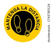 "mantenga la distancia  ""keep... | Shutterstock .eps vector #1745785124"