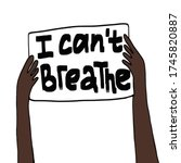 protest banner about human... | Shutterstock .eps vector #1745820887