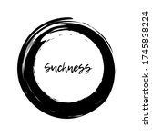 painting enso zen symbol. fine...   Shutterstock .eps vector #1745838224