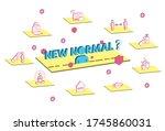 new normal lifestye concept.... | Shutterstock .eps vector #1745860031
