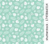 tropical leaves seamless... | Shutterstock .eps vector #1745866514