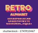 colorful chisel style alphabet... | Shutterstock .eps vector #1745913467