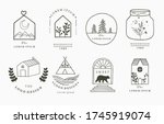 home and house logo collection... | Shutterstock .eps vector #1745919074