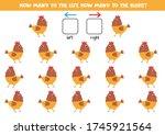 how many hens go to the left... | Shutterstock .eps vector #1745921564